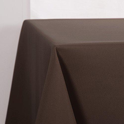 Deconovo Tischdecke Wasserabweisend Tischwäsche Lotuseffekt Tischtücher 130x160 cm Schoko Stoff-tischdecken