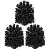 com-four® 3X Ersatz WC Bürstenkopf, Ersatzbürsten in schwarz für Toilettenbürste, Ø 8 x 9,5 cm (03 Stück - Bürstenkopf)