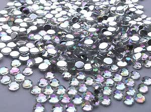 Crystals & Gems UK 500 X4mm Gemmes En Strass Diamant Cristal Trasparent AB À Coller À Dos Plat