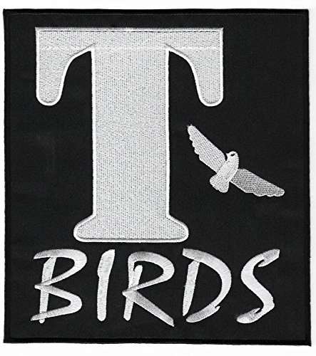 T-Birds Aufnäher XL, 20cm bestickter Aufnäher zum Aufbügeln für ein Grease-Kostüm, - Fett Kostüm Danny