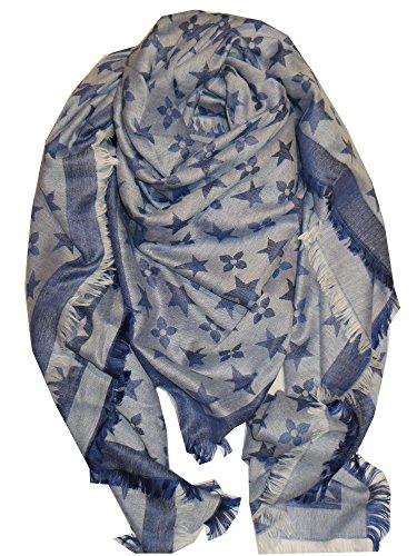 schal-tuch-monogram-gross-grau-beige-blau-dreieckstuch-150cm-blau