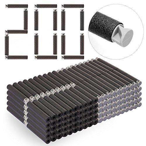 DUS 200 Stück Darts Pfeile Schaumstoff Refill Bullets Nachfüllpack für Nerf Elite/Nerf Modulus/Nerf Zombie