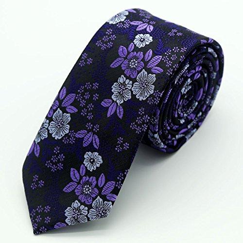 WUNDEPYTIE Tie-Neck Silk Silk Mens Fashion Casual, Purple W} -