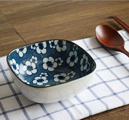 Nudeln Blaue Weiße Schalen Und (Salatschüssel Obstschale japanischen Stil, Keramik Schüssel mit Blau und Weiß Creative Home Reis Schüssel Nudeln Schüssel stellenpool Schale Obst Salat Schüssel Müslischale  Ramen Schüssel, keramik, C, 10*4.5cm)
