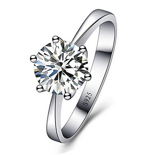 Skyllc de plata con diamante de imitación