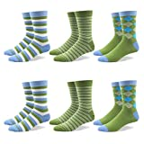 RioRiva Socken Herren - Fein Baumwoll - Gemustert und bunt - Europäische Qualität - Mehrfachpack (BSK107-6 Paare Mehrfarbig, EU 41-46/UK 8-12)