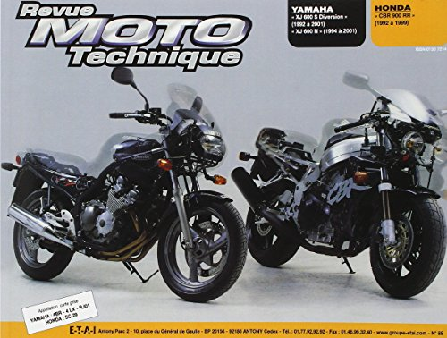 REVUE MOTO TECHNIQUE NUMERO 88 : YAMAHA XJ 600 S ET HONDA CBR 900 RR