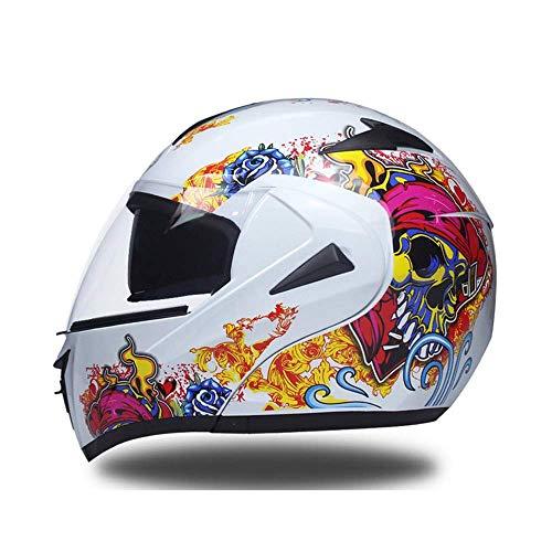 HEATOOX Doppia Sun Visor Flip-Up del Fronte Pieno Caschi Anti-Fog Crash modulare Che corre Casco Set Ingranaggio Protettivo del Casco del Motociclo della Motocicletta a Uomini Donne di età