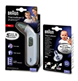 Braun Thermomètre auriculaire infrarouge ThermoScan3 IRT3030 & Embouts jetables LF40