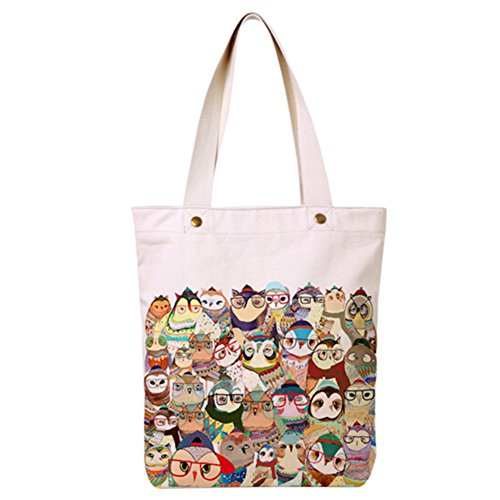 Blancho Japanese Style Cotton Canvas Bag Sac d'épicerie réutilisable pour le shopping
