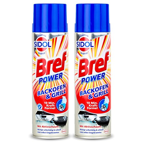 Sidol Bref Power Backofen & Grill Reiniger 500ml-10 min. Kraft-Formel(2er Pack) -
