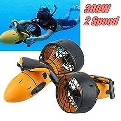 ningfulu101 Seascooter sous-Marin, Scooter de mer électrique, hélicoptère sous-Marin à Deux Vitesses Scooter 300W de Piscine de plongée sous-Marine de Sports Nautiques imperméables