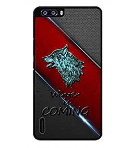 PRINTSWAG WOLF Designer Back Cover Case for HUAWEI HONOR 6 PLUS