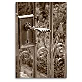 Calvendo Premium Lienzo de 80 cm x 120 cm de Alto, Vieja Puerta de jardín, Imagen sobre Bastidor, Listo en Lienzo auténtico, impresión en Lienzo, Lugares