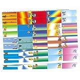 Regali con nomi 1483bambini di etichette zum selbstbeschriften per quaderni, schulbuecher, anelli per la scuola, titoli, 80pezzi, circa 56X 23mm, colorato di Misto con 20bellissimi bambini di motivi colorati