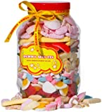 Retro Sweets and Candy Penny Mix Gift Jar - Pick 'n' Mix Fix - The Perfect Gift For Everyone 2000ml