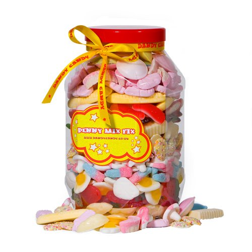 Retro Sweets and Candy Penny Mix Gift Jar - Pick 'n' Mix Fix