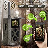 Suntek 3G Hunting Camera GSM SMS 16MP 1080P Hunting Trail Camera with 28 Infrared LEDs Night Vision Infrared 65ft 120 ° PIR Wide Angle,
