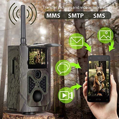 3G 2G Cámara de Caza Suntek Vigilancia 16MP, 1080P Trail Cámara IP65 Impermeable, 28 pcs IR Leds Visión Nocturna hasta 90pies,120° Sensor,HC550G