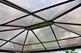 Leco Set Polycarbonat-Stegplatten für Profi-Pavillon, grau / braun, 300 x 365 x 1 cm, 13918888
