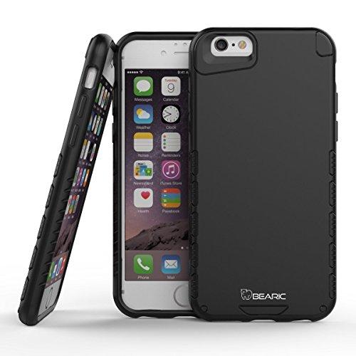 bearic Grizzly Schutz Schutzhülle für iPhone 6/6S 11,9cm Displayschutzfolie im Lieferumfang Enthalten, Schwarz - Schwarzer Bär 6 Licht