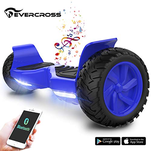 EverCross 8.5' Hoverboard Scooter Patinete del Mano Eléctrico Bluetooth App Self Balancing (Blue)
