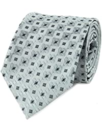 Cravate damier gris