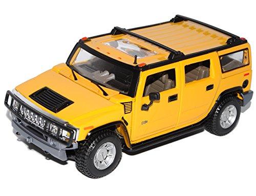 hummer-h2-suv-gelb-2003-2010-1-27-1-24-maisto-modell-auto