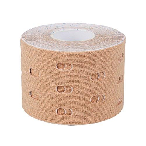 Andux Zone Kinesiotape Medizin Tape Aku Taping Kinesiologie Tape Verletzung Tape 5cmX5m JNXTB-01(Haut)