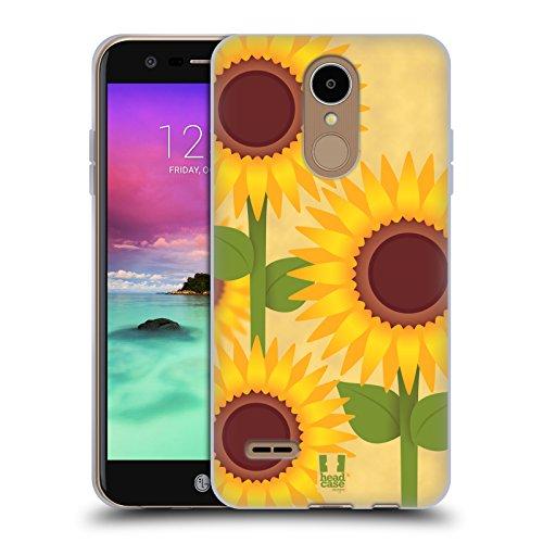 Fall + Ständer Flexible Soft Gel TPU Snap auf Passt LG l58vl Rebel 2/K42017/M153Fortune/M150Phoenix 3/K82017/Aristo/MS210LV3/m200N Wieder Cover Sonnenblume Sonne, Blume -