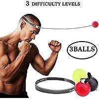 Alomejor Boxtrainingskopf Reflexball f/ür Erwachsene Kopfband f/ür Boxen Boxen und Training
