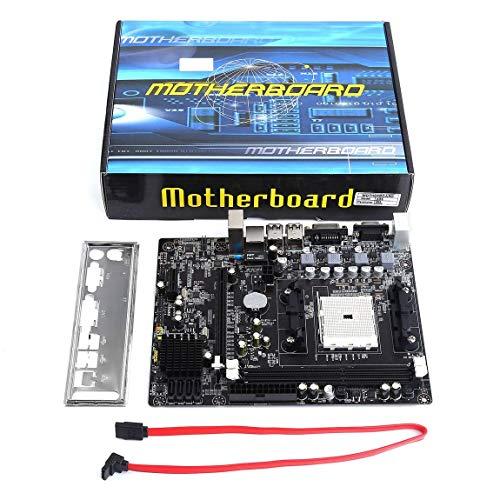 A55 Desktop (73JohnPol A55 Desktop Motherboard-Unterstützung für Gigabyte GA A55 S3P A55-S3P DDR3-Sockel FM1 Gigabit-Ethernet-Mainboard, schwarz)