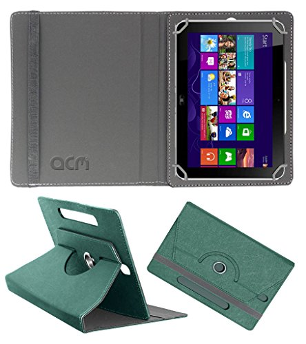 Acm Designer Rotating Leather Flip Case for Hp Elite Pad 900 G1 Cover Stand Turquoise  available at amazon for Rs.219