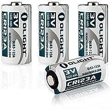 Olight® 16340 CR123A Batterie Lithium 3V 1600mAh für Olight Taschenlampe S1 Baton / S10R Baton II / S2 Baton Series und andere Geräte wie Kameras - 4-er Pack (Original)