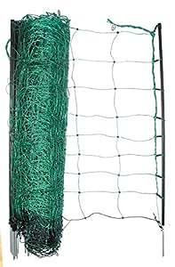 Clôture batterie de clôture en plastique vert 108 cm jusqu'à 50 m de longueur clôture en filet avec 14 poteaux de clôture pötschke ambiente clôture pour chien et enclos bec flexible de jardin
