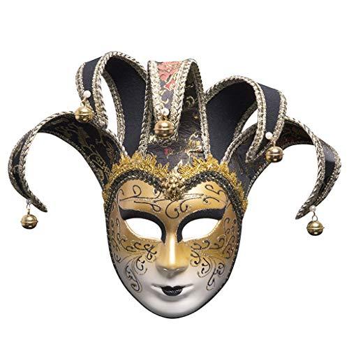 YYRZGW Das Phantom der Vintagen Entwurfs-vollen Gesichts-Frauen der venetianischen Karnevals-Maskerade-Maske der Oper-Schwarz (Machen Phantom Der Oper Kostüm)