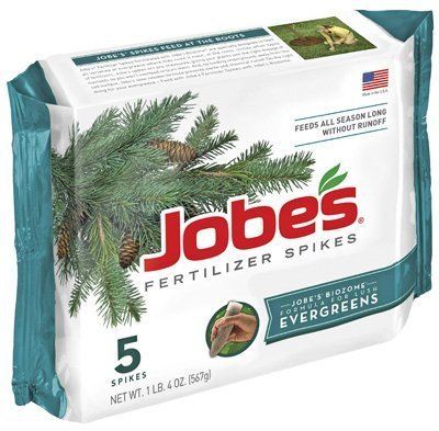 Evergreen Spikes (Jobes 1001 5 Pack Evergreen Fertilizer Spikes 13-3-4 by Jobes)