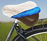 wenko Fahrradsattel-Bezug aus Lammfell, Fahrradsattelbezug Fahrradsattelüberzug ,Oberseite: 80% Lammfell,20%Polyester, Unterseite: 100% Polyamid, Maße: ca. 25 x 19,5 x 8 cm, angenehmes und gepolstertes Sitzvergnügen,