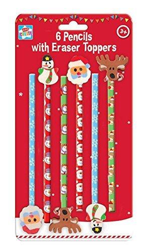 6 Weihnachts Bleistifte Mit Weihnachten Radiergummi Aufsatz