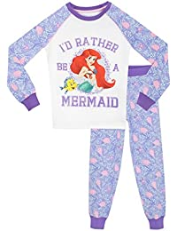 Disney Girls The Little Mermaid Pyjamas - Snuggle Fit - Ages 18 Months To 8 Years
