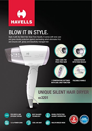Havells HD3201 Hair Dryer (Purple)