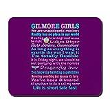 CafePress–Gilmore Girls Mousepad–Rutschfester Gummi-Mauspad, Gaming Maus Pad