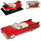 Cadillac Eldorado Biarritz Cabrio Rot 1959 1/18 Maisto Modell Auto