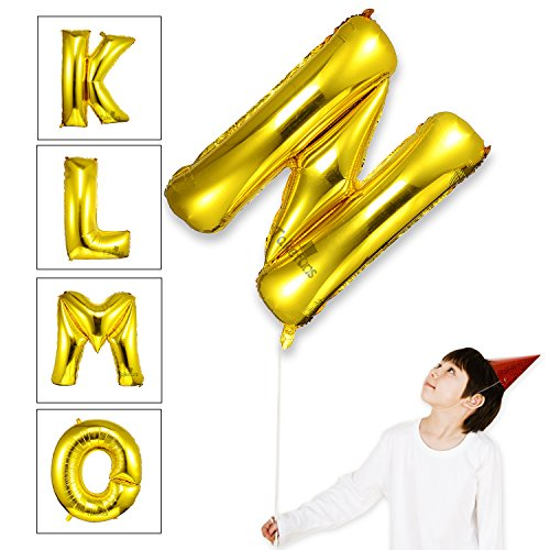 Takefuns 40 Zoll Gold Alphabet N Ballon Geburtstagsfeier Dekorationen Folie Mylar Helium Buchstaben Ballons