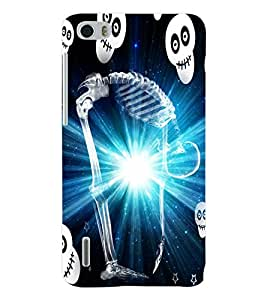 ColourCraft Skeleton Back Case Cover for HUAWEI HONOR 6