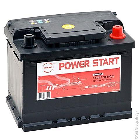 NX - Batterie voiture P Start 60-500 12V 60Ah +D