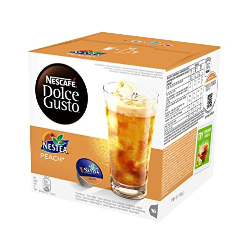 Order Nescafe Dolce Gusto Nestea Peach Coffee, 16 Capsules (Pack of 3, Total 48 Capsules, 48 servings) by Nestle UK