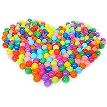 100 Pcs JUNGEN Colorida Bola de Plástico Océano Bola Niños Nadar Agua Piscina Bola del Juguete, Diámetro 5.5cm, Multicolor