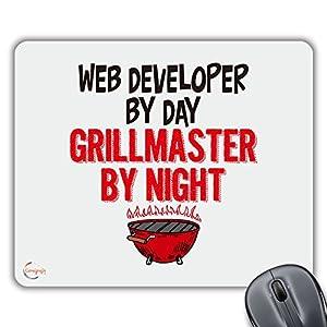 desarrollador de web: cp466desarrollador Web por día Grillmaster regalo por la noche impreso PC portá...