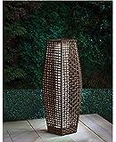 Venice Rattan Garten Stehlampe mit weißem LED-Licht